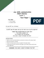 L Lit Level1 TestL Jan08