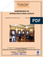 GOBERNANZA DE INFRAESTRUCTURAS LOCALES (Es) GOVERNANCE IN LOCAL INFRASTRUCTURES (Es) TOKIKO AZPIEGITUREN AGINTEA (Es)