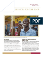 Gates Foundation - Financial Services for the Poor Strategy Overview
