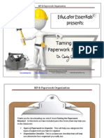 Paperwork IEP Organization eBook