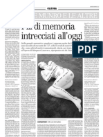 Alice Munro e Le Altre, Fili Di Memoria Intrecciati All'Oggi - Il Manifesto 03.01.2013