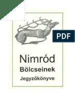 Nimród bölcseinek jegyzőkönyve-olvasOM