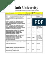 Sai Nath University_fee Structure