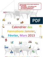 Calendrier des formations 2013