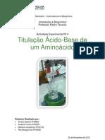 Titulação Ácido-Base se um aminoácido