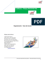Concurso Nacional de Leitura - Regulamento interno 2013