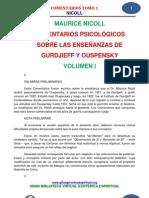 Comentarios psicologicos sobre las enseñanzas de Gurdjieff y ouspenski VOL 1.pdf