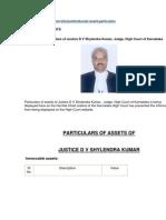 Asset Particular Justice Shylendra Kumar