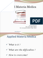 Applied Materia Medica