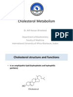Cholesterol Metabolism 2012