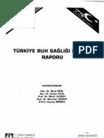 Türkiye Ruh Sağlığı Profili Raporu (1998)