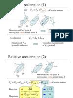 Relative acceleration