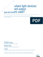 Intense Pulsed Light Devices, Are Claimed Output Parameters Valid - M Trelles, G Town, C Ash