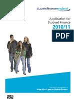 STUDENT FINANCE Applcation Form