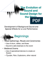 The Evolution of Sound Design for the Stage