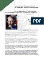 John P Holdren - Obama's Science & Technology Czar