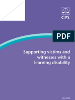 Supporting Victims and Witnesses With a Learning Disability