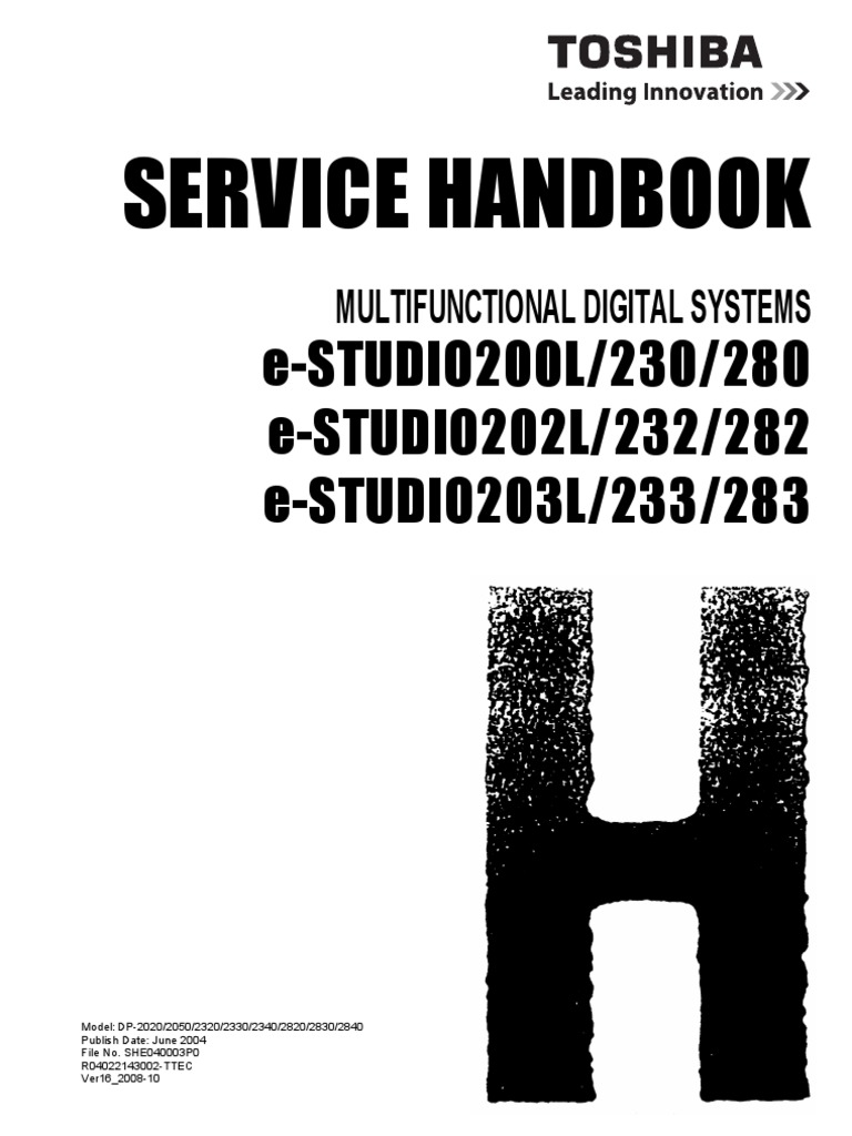 toshiba estudio 282 full service manual