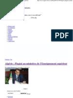 Algérie _ Plagiat au ministère de l'Enseignement supérieur