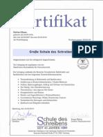Herbert Blaser - Zertifikat