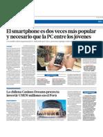 El smartphone es dos veces más popular y necesario que la PC entre los jóvenes (edit)