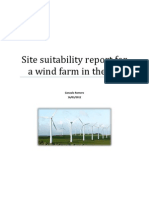 Site suitability report for a wind farm in the UK