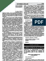 Conformación de Salas de la Corte Suprema de Justicia de la República y Salas Superiores de la Corte Superior de Justicia de Lima para el Año Judicial 2013