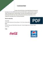 Product Relation of Pepsi &Coke