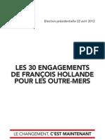 Les 30 engagements de François Hollande pour les outre-mers