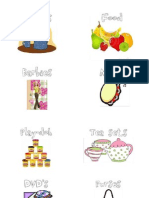 Toy Bin Labels with Pictures