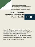 12. P. Feyerabend  2º parte Contra el método