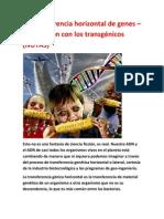 La transferencia horizontal de genes – La conexión con los transgénicos (NOTAS)