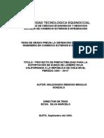 Proyecto de Factibilidad - Exportación de Humus - Lombriz Roja Californiana - Chile