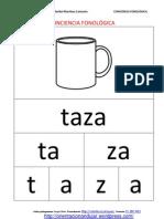 Conciencia Fonologica Palabras Silabas Letras Objetos Del Hogar Comida Fichas 1 13