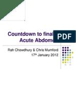acute abdomen - chris  rah