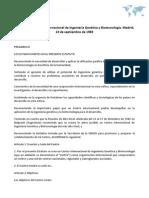 Estatutos del Centro Internacional de Ingeniería Genética y Biotecnología. Madrid, 13 de septiembre de 1983