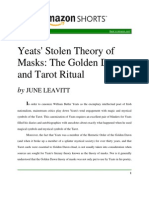 Tarot rituals and Yeat's poetry