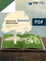 Industry Focus - Marketing Myopia Revisited