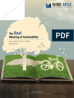 The Real Meaning of Sustainability