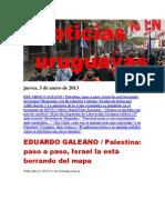Noticias Uruguayas jueves 3 de enero del 2013