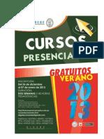 Cursos Presenciales Verano 2013