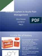 Pacu Tylenol Presentation