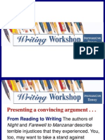 Persuasive Writing Essay Writing Workshop