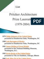 Pritzker Architecture Prize Laureates