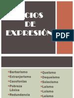 VICIOS DE EXPRESIÓN