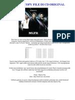 Cara Copy File Di CD Original