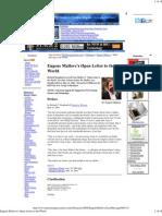 99769426 Eugene Mallove s Open Letter to the World 2004