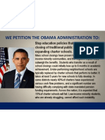 Petition to the President to Stop School Closings