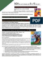 Agenda de Actividades Caum Del 9 Al 15 de Abril