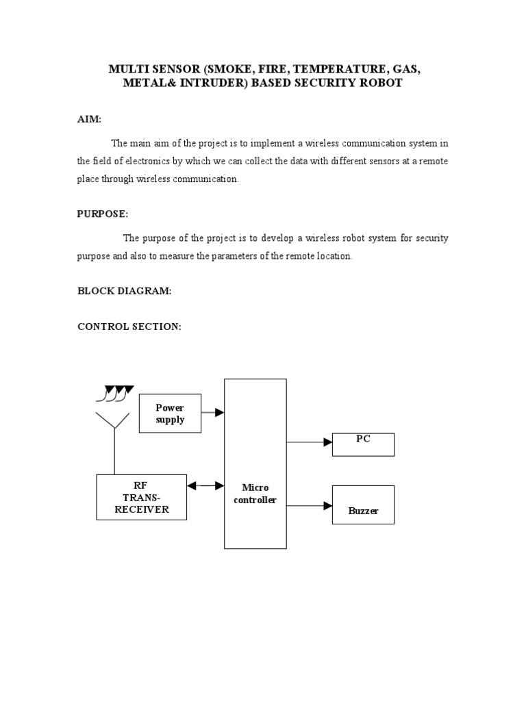 76.Multi Sensor-smoke, Fire,Temperature,Gas,Metal and Intruder ...